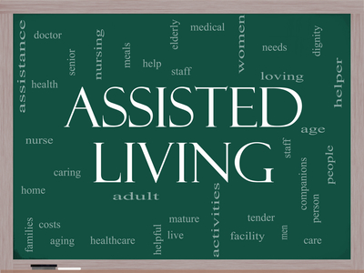 Assisted Living Concept on a blackboard