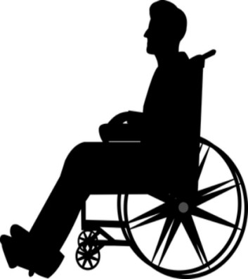 sillouette of man in wheelchair 420x470