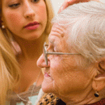 old woman and caregiver picture